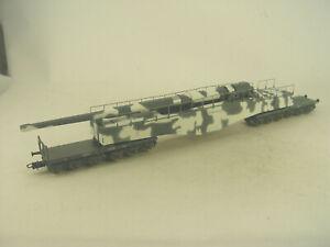 Eisenbahngeschütz K5  grau/weis - Rivarossi HO Modell 1:87 - 6532 #E