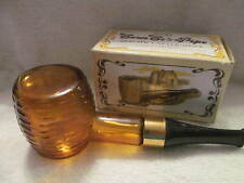 Avons Corn Cob Pipe Decanter Brown Pipe with Black Tip In Original Box