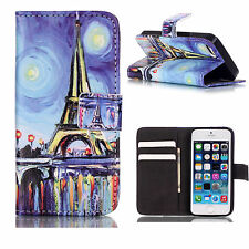 Wallet Leather Phone Case For Apple iPhone 5 SE 5S 5 5G Flip Stand Cover