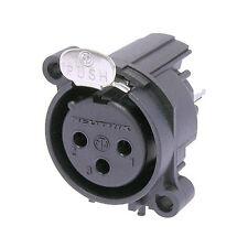 Neutrik Nc3fav Cannon XLR femmina da Pannello 3 poli contatti Circuito stampato