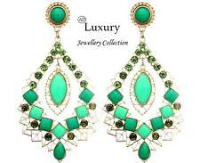 SALE!!! AD Luxury Jewellery Crystal Drop Stud Earrings For Women Green