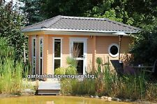 Saunahaus Blockbohlensauna Sauna Gartensauna Aussensauna 240x480, 45mm 45394