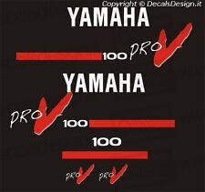Adesivi motore marino fuoribordo Yamaha 100 cv PRO V gommone barca stickers