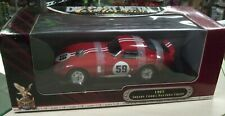 1965 Cobra Daytona Coupe #59 RED with White Stripe 1:18 scale by Road Signature