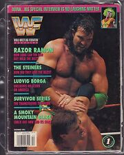 WWF Magazine December 1993 Ludvig Borga, The Steiners VG 042516DBE
