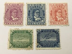 old stamps  COOK ISLANDS    x  5
