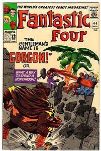 FANTASTIC FOUR 44  -  VF/NM (9.0)  1st GORGON!  Pre-INHUMANS!  1965  High Grade!