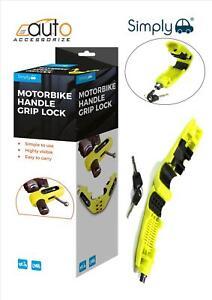 Motorcycle Motorbike Disc Lock Brake Handlebar Throttle Grip Lock Yellow