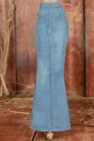 ELENPRIV light blue denim maxi skirt for Fashion Royalty FR2 and similar dolls
