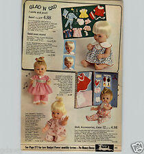 1967 PAPER AD Mattel Cheerful Tearful Baby Lullabye Remco Glad 'N Sad