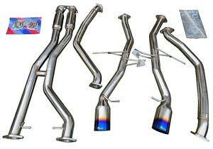 Catback Exhaust w/ Burnt Tips for 07-10 335i E90 E92 E93 N54 Twin Turbo 3.0L RWD