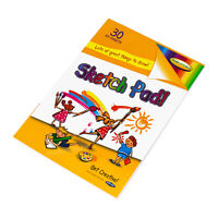 Children's A5 Art Sketch Pads 30 Plain White Sheets Colouring Drawing Paper Book