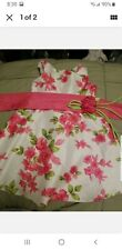 Youngland Girls 4 Dress White Pink Flowers & sash w/ flower