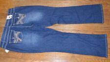Vanilla Star Mid Rise Bootcut Denim Jeans Size 20 Blue Jean Embellished Pockets
