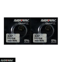 2 x Rayovac 337 Silver Oxide batteries 1.55V SR416SW SR416 D337 Watch 0% Mercury