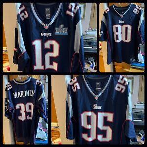 4 Official New England Patriots Jerseys Tom Brady Nike Amendola Chandler Jones +