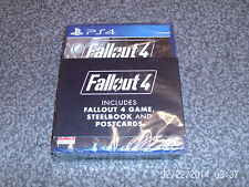 FALLOUT 4 STEELBOOK EDITION ps4 INC GAME&POSTCARDS&STEELBOOK    new&sealed