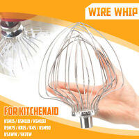 For KitchenAid K5AWW KSM90 6-Wire Whip Whisk Beater Mixing Mixer Egg Heavy Cream