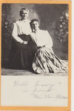 Studio Real Photo Postcard Rppc - Two Affectionate Older Women
