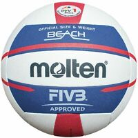 Molten Beachvolleyball V5B5000-DE Wettspielball weiß blau rot Größe 5