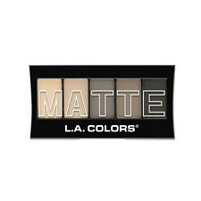 L.A. Colors Makeup Silky Smooth Matte Eyeshadow Palette CEM480 Nude Suede