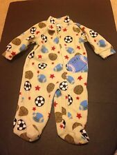 Emma & Jack Boys Long Sleeved Bodysuit With Sports Balls  Sz 3M - Free Shipping