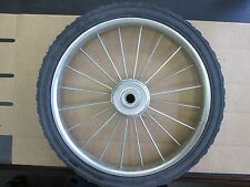 "Wire Spoke Mower Wheel 16"" x 1.75  3/8 BB Center Diamond Tread"