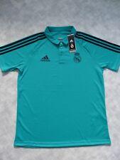 Real Madrid Adidas Turquoise Polo Training Shirt Large Bnwt