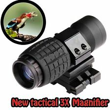 3X magnifier scope sight + flip-to-side 20mm mount pour observer les oiseaux de chasse