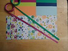 "Stampin Up NATURALLY ECLECTIC 6 X 6"" Designer Paper Card Kit Ribbon"