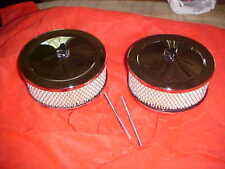 pair (2) tunnel ram,cross ram,dual four air cleaners & custom wing nuts,rat rod