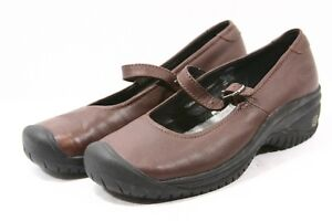 KEEN PTC Utility Maryjanes Womens Shoes Size 7.5 Brown Leather slip resistant 38