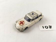 HUSKY CORGI JUNIORS CITROEN SAFARI AMBULANCE CAR ORIGINAL DIECAST WHITE