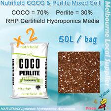 2x Grow Media 50L Nutrifield COCO Perlite Mixed Soil Hydroponics Growing Medium