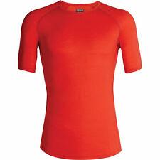 Icebreaker Merino 150 Zone SS Crew Shirt (M) Chili Red / Monsoon