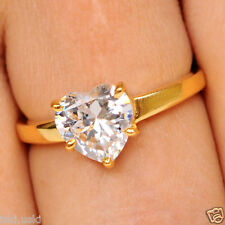Heart Cut 3.50 Ct Man Made Solitaire 14KT Yellow Gold Fine Engagement Ring