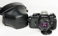 NIKON EM 35mm SLR CAMERA + 50mm f1.8 E LENS (3542BL)