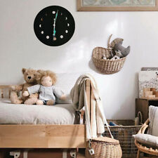 """10"""" Moonphase Wooden Luminous Wall Clock Home Hanging Decor Room Ornament"""