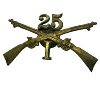 Antique Military 25th Infantry Pin Heavy Duty with Great Patina