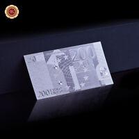 WR Argent européen 200 € argent billets de banque monde papier cadeau d'affaires