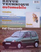 NEUF Revue technique FIAT CINQUECENTO 899 et 1108 cm3 RTA 571 1995 405 VISA C15