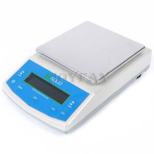 5000 x 0.1 g Lab Digital Precision Scale Analytical Balance LCD U.S. Solid®