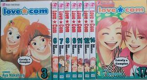 Love Com 3,6-9,11,12,14,17 English Manga Graphic Novels lot Brand New Shojo Lot
