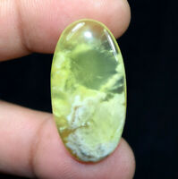 Peru Prehnite 100% Natural Cabochon 35.55 Cts. Oval Loose Gemstone