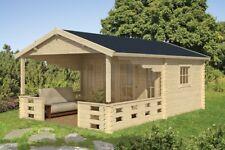 Gartenhaus Blockhaus Sanstrov 45 mm 380 x 320 cm inklusive 30 m² Dachschindeln
