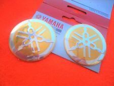 Yamaha GENUINE Vintage Classic GOLD Metal Tank Badge 55mm x 2 ****UK STOCK****