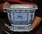 11 Chinese Blue   white porcelain flower pattern flower Bonsai Potted plants pot