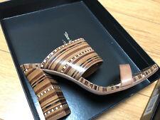 Vince Camuto VR-Becca womens Dark cork tan stacked le nappa sft sandels heels