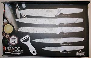 Pradel Evolution Messerset in Weiß 5 Messer plus Sparschäler