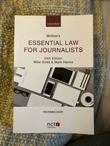 McNae's Essential Law For Journalists (24th Edition) NCTJ